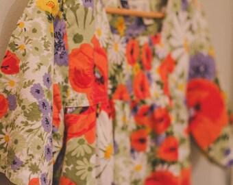 Vintage Floral Dress Size M