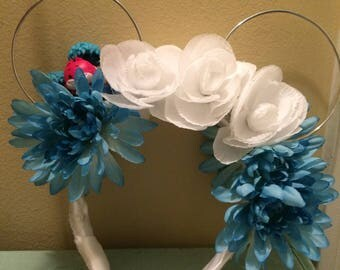 Alice inspired floral ears--READY TO SHIP
