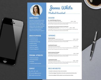 Microsoft Word Resume Template Download Pdf Medical Resume  Etsy Recruiting Coordinator Resume Word with Cover Sheet For A Resume  Military Resume Pdf