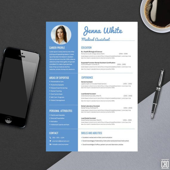 minimal professional resume template for word modern resume