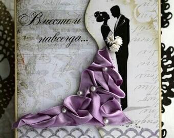 Wedding invitations with wedding dress