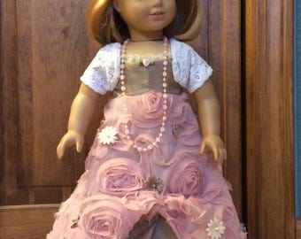 18 inch doll dress Pink Gown