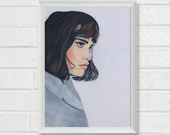Portrait Colored Pencil Painting - Art Print