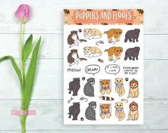 Scottish Fold Cat Kitty Cute Stickers 18PK