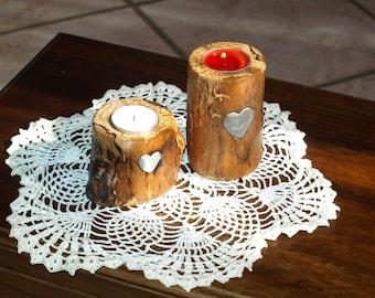 Candle holder-little trunk tea light-centerpiece