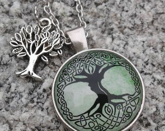 Celtic Tree of Life Necklace with Charm