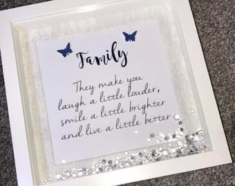 Family Foil Quote Frame