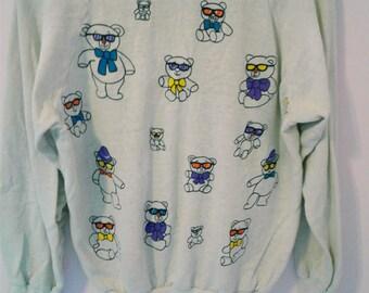 Teddy Bears Wearing Sunglasses Thin Sweat shirt/ longsleeve Tee
