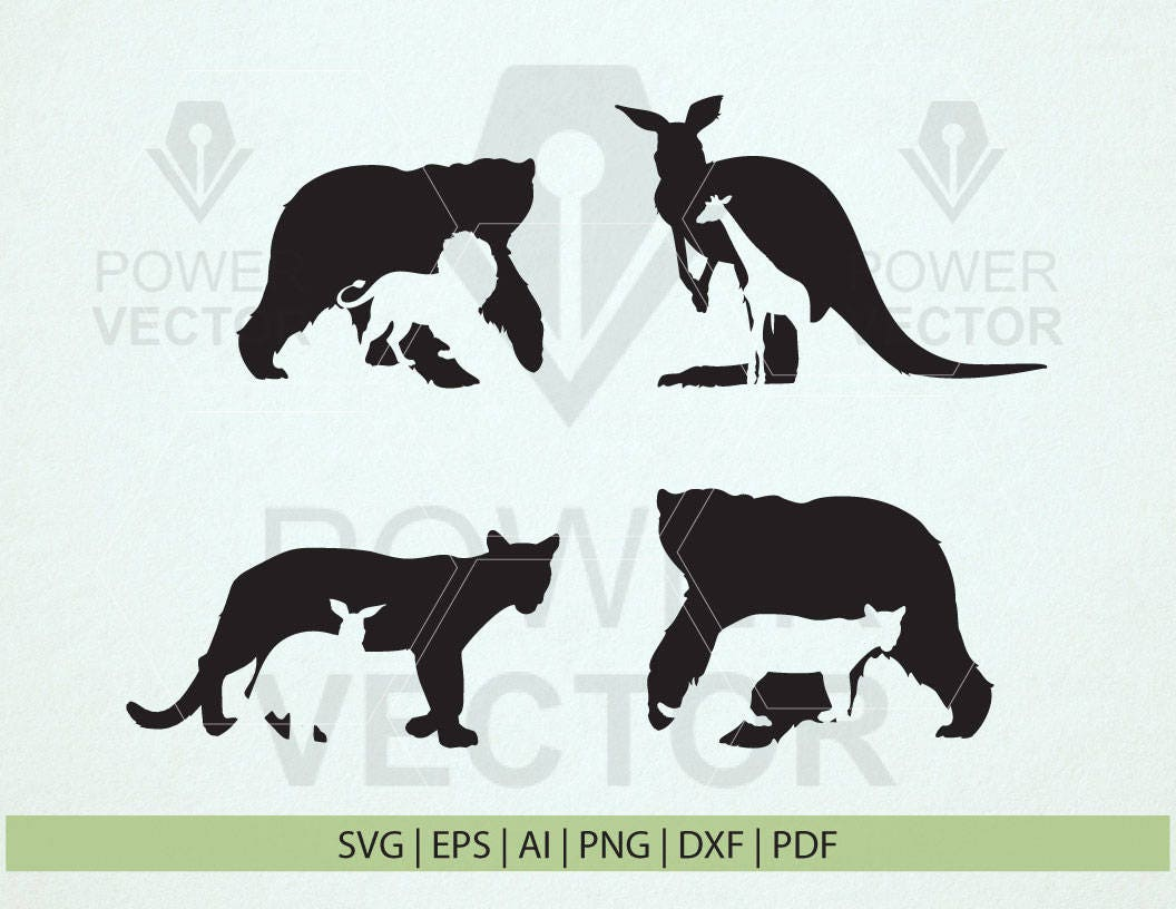 wild animals svg animals silhouette vinyl animals stencil