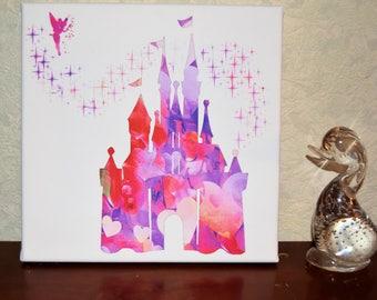 Disney Inspired watercolour castle print
