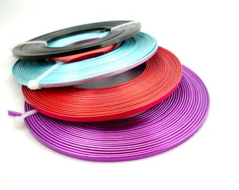 Smooth Flat Colored Aluminum Wire/ 5 meters/ 16,4 ft  WIRE Rolls /flat of 3x1 mm_ pack 1 roll