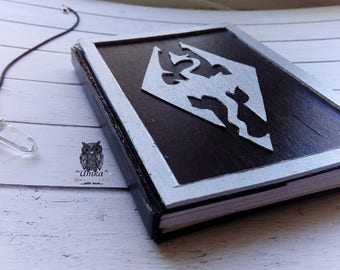 Skyrim Black Notepad With the dragon