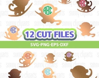 Monkey Svg, Monkey Clipart, Monkey Decal, Marmoset, Svg Files For Silhouette, Instant Download, Cuttable Files, Commercial Use Svg, Dxf Png