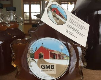 FALL FOLIAGE SALE! 500ml Glass Maple Leaf - Vermont Maple Syrup