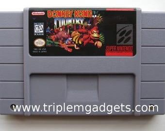 Donkey Kong Country - Super Nintendo NTSC Reproduction Cartridge