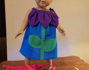 """18"""" Doll Fancy Purple Flower Dress"""