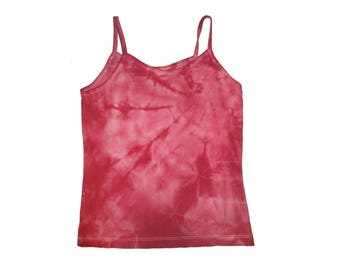 Red/Pink Spiral Tie Dye Cotton Small Tank