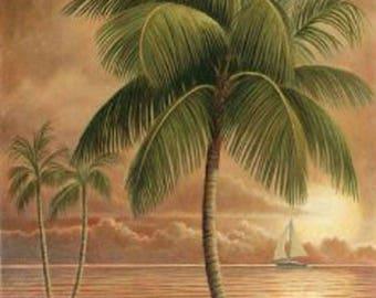 TropicaL PaLm Tree Cross Stitch Pattern***L@@K***