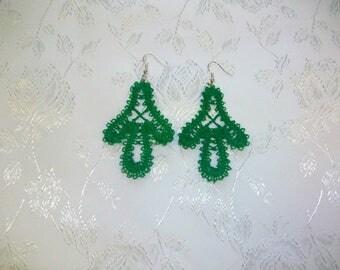 earrings-green earrings-embroidery earrings-mothers day earrings-light weigh earrings-pretty earrings-saint patrick day jewelry