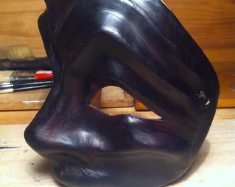 Harlequin 100% leather mask