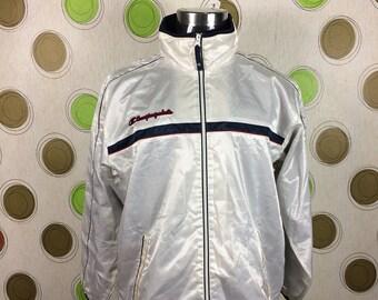 Vintage Champion Sport Jacket White Bomber Jacket