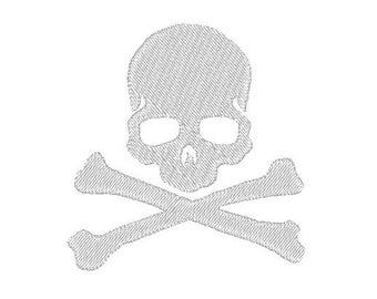 skull and cross bones Embroidery file Digital embroidery files Machine embroidery
