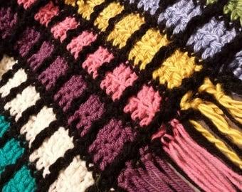 Handmade Scrap Yarn Afghan