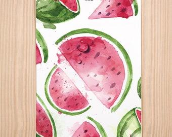 Watermelon Print, Summer Art Print, Summer Decor, Watermelon Print, Home & Living, Modern Wall Art Prints, Tropical Art