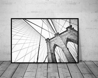 New York Print, Modern Wall Art, NY City Photo, Black-White Photo, City Photography, Printable Poster, Digital Download, 5 JPG's