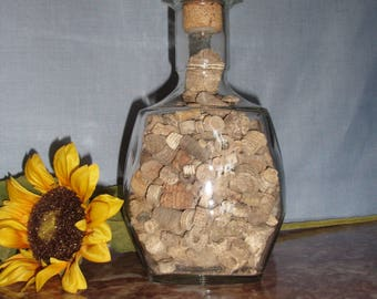 Vintage Liquor Bottle with Crinoids