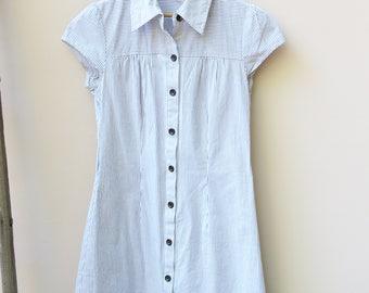 Classic Pin Stripe Shirt Dress