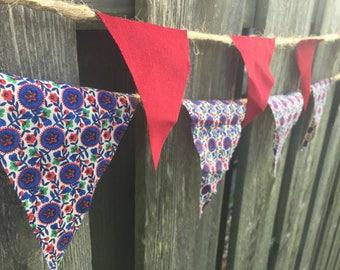 Vintage Fabric Pendant Banner