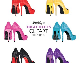 High Heels Clipart, Heels clipart, Fashion clip art, Black Heels clipart, Digital Graphics, High Heel shoes clipart, clipart, clip art