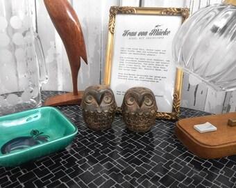 70s salt & pepper owls / 70s salt and pepper owls