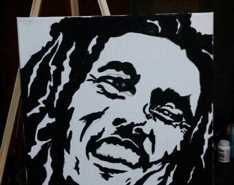 Bob Marley canvas art 16x20