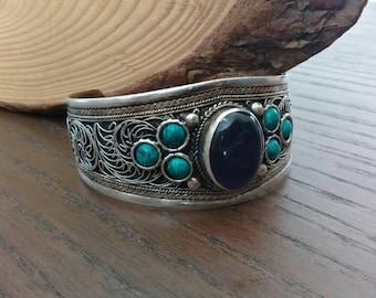 Boho Tribal Tibetan Cuff Bracelet