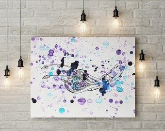 Purple Squid Print.