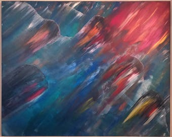 March Eternal. Original Acrylic Abstract on 48x60 Gallery Profile Canvas