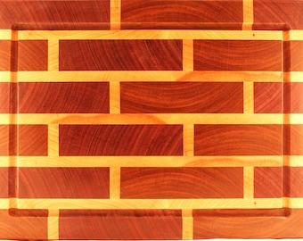 End-Grain Hardwood Cutting Board - Brick