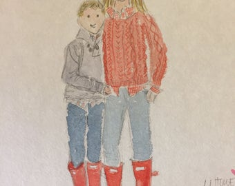 MHowe custom watercolor portraits
