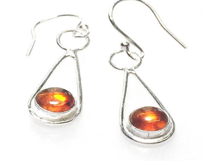 Amber Loop Drop Earrings