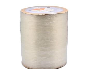Clear Beading Elastic - 1 Roll of 0.8mm x 8 Metres - Necklace Bracelet Making - Stringing Material - Jewellery Making Supply