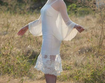 Vichy Double short wedding dress