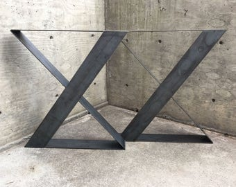 Modern steel table legs,mid century modern,steel legs,metal table legs