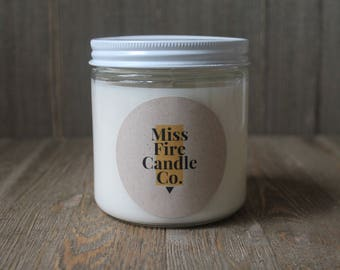 16 oz Soy Candle - Classic Glass Jar