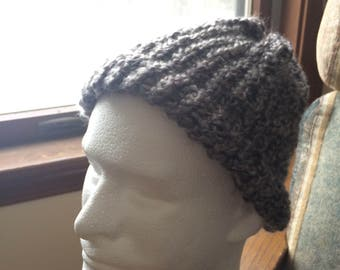 Handmade Grey Beanie Hat