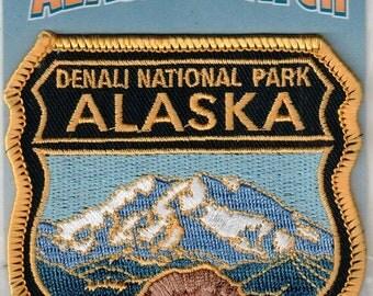 Alaska Iron On Badge Style Patch Denali National Park