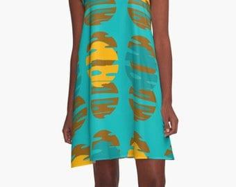 XL  Dress  Summer Dress  Womens Gift Dress Party Dress Retro Dress  Mini Dress Mod Dress Casual Dress Chiffon Dress Gift for Women Blue