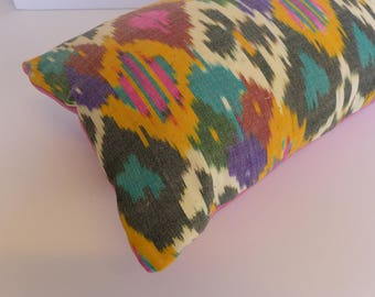 Uzbek Ikat Pillow - 12 x 20 Lumbar