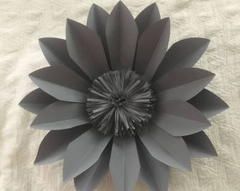 "2 - 14"" Gray Alicia Paper Flower"